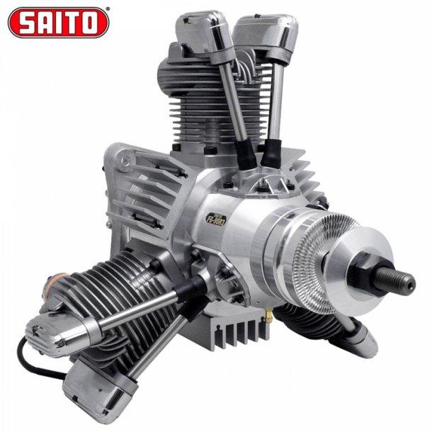 Saito FG-90R3 90cc 4-takt 3-cyl Bensin stjernemotor.