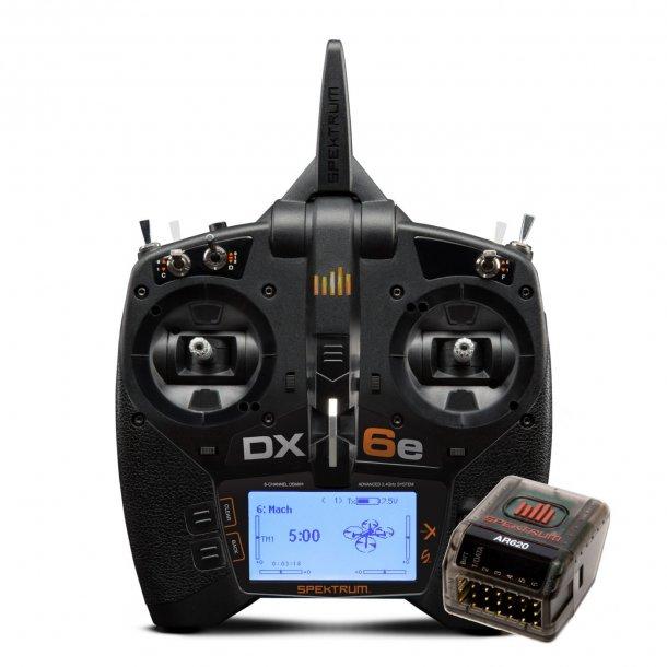 DX6e, 2,4GHz sender og AR620 modtager fra Spektrum.