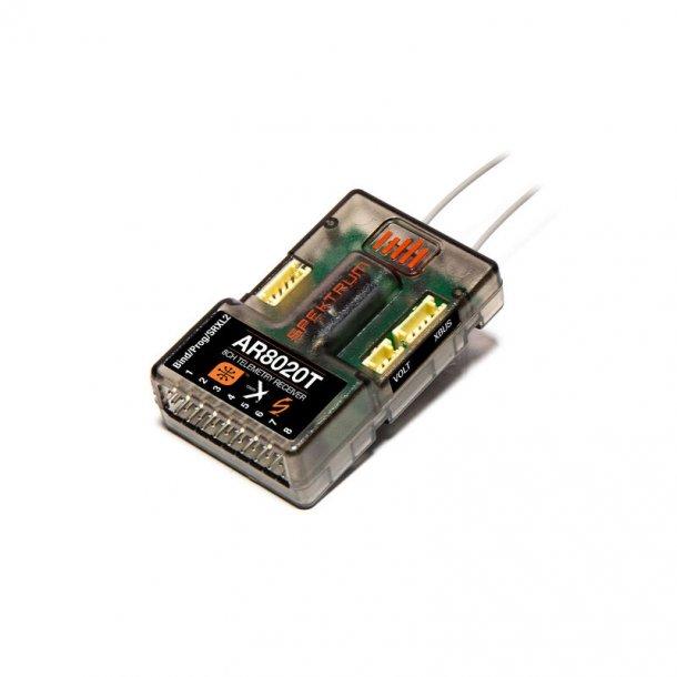 AR8020T- Spektrum DSMX™ 8-kanals Variometer telemetri-modtager, 2,4GHz.