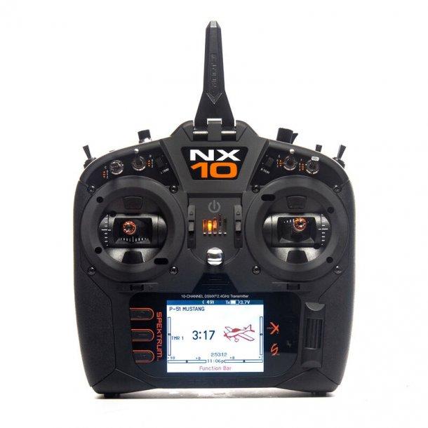 NX-10, 10 kanals 2,4GHz sender fra Spektrum.