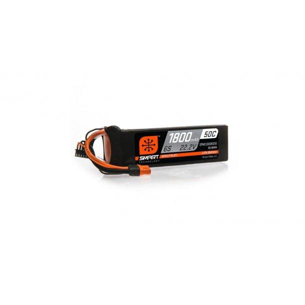22.2V 1800mAh 6S 50C Smart LiPo Battery: IC3. BESTILLINGSVARE.