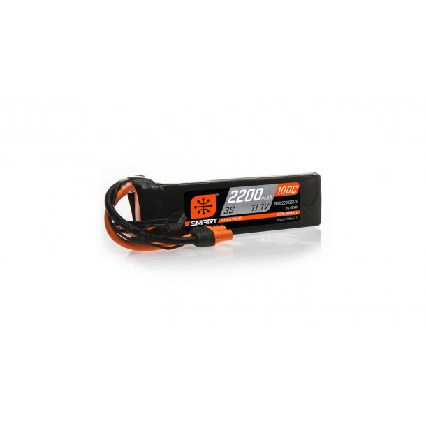 11.1V 2200mAh 3S 100C Smart LiPo Battery: IC3. BESTILLINGSVARE.