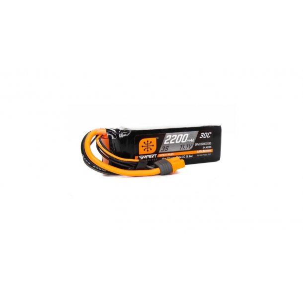 11.1V 2200mAh 3S 30C Smart LiPo Battery: IC3.
