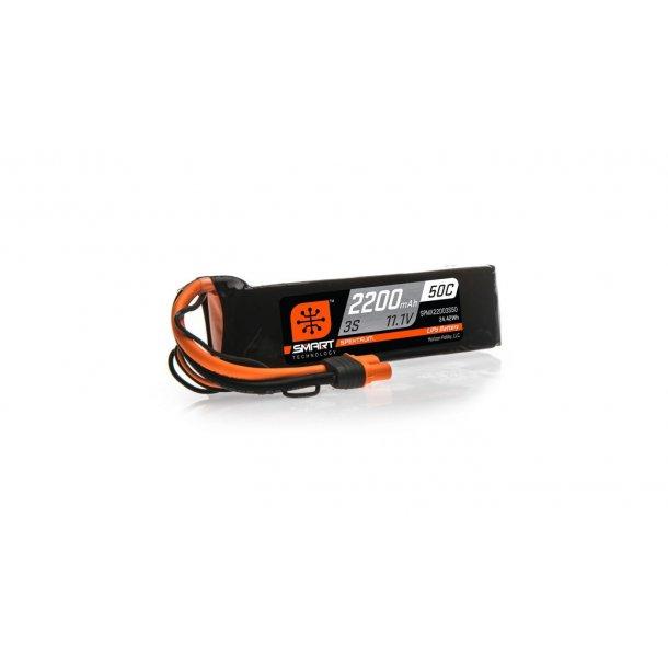 11.1V 2200mAh 3S 50C Smart LiPo Battery: IC3. BESTILLINGSVARE.