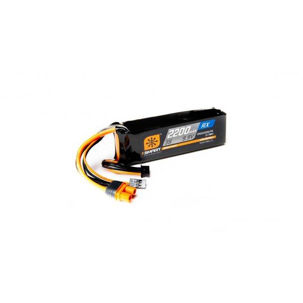 2200mAh 3S 9.9V Smart LiFe ECU Battery Pack: Universal Receiver, IC3. BESTILLINGSVARE.