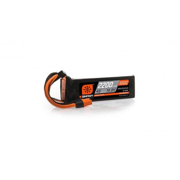 14.8V 2200mAh 4S 100C Smart LiPo Battery: IC3. BESTILLINGSVARE.