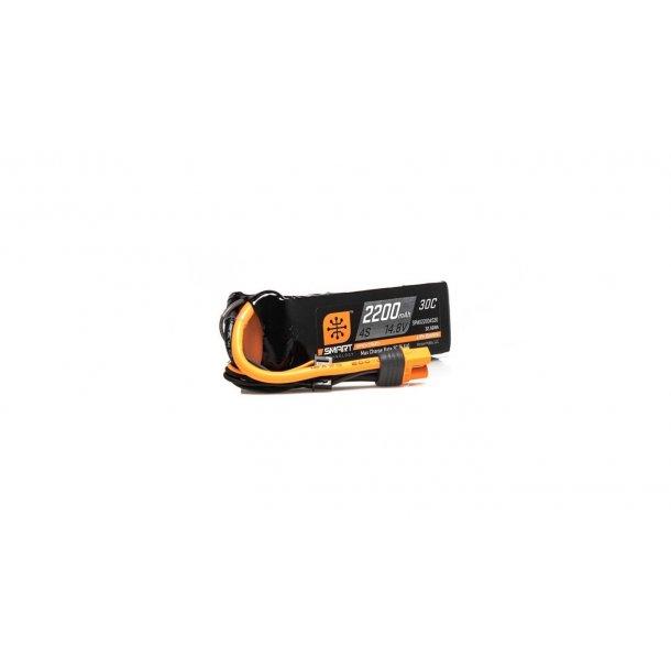 14.8V 2200mAh 4S 30C Smart LiPo Battery: IC3.