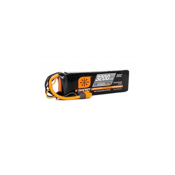 11.1V 3200mAh 3S 30C Smart LiPo Battery: IC3. BESTILLINGSVARE.