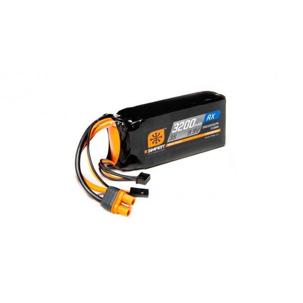 9.9V 3200mAh 3S 15C Smart LiFe ECU Battery: Universal Receiver, IC3. BESTILLINGSVARE.