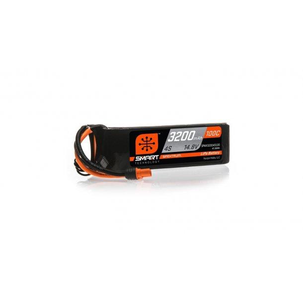 14.8V 3200mAh 4S 100C Smart LiPo Battery: IC3. BESTILLINGSVARE.