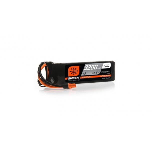 14.8V 3200mAh 4S 50C Smart LiPo Battery: IC3. BESTILLINGSVARE.