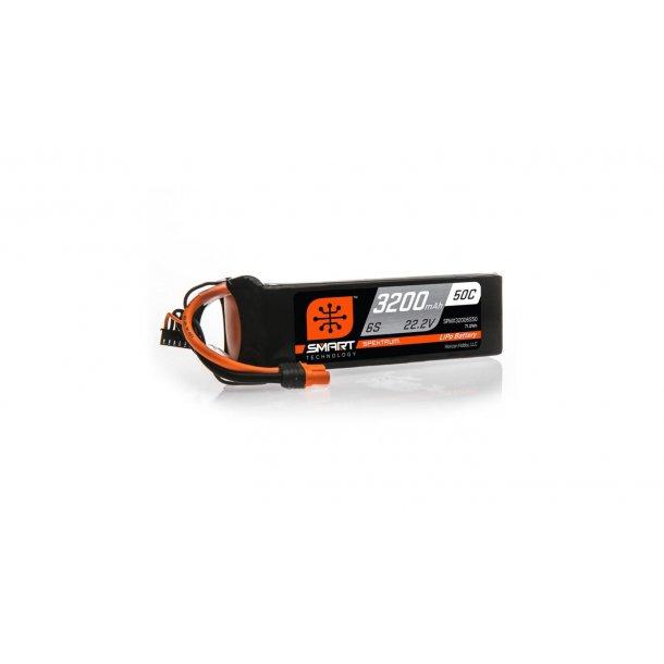 22.2V 3200mAh 6S 50C Smart LiPo Battery: IC3. BESTILLINGSVARE.