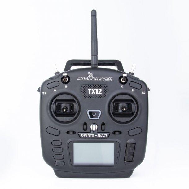 RadioMaster TX12 sender med OpenTX, 2,4GHz med 16 kanaler og multiprotokol. HUSK AT KØBE BATTERIER.