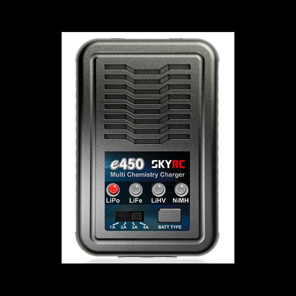 SkyRC e450 AC lader med 1 kanal. 1 x 50W.