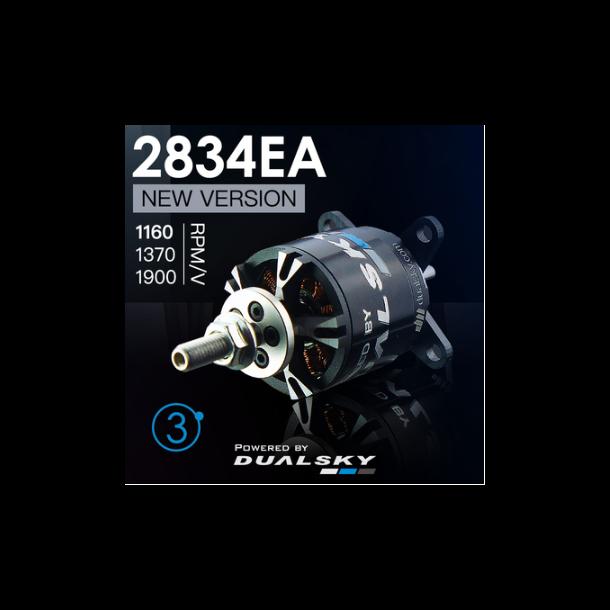 Dualsky XM2834EA-11 V3, 1370KV børsteløs motor.