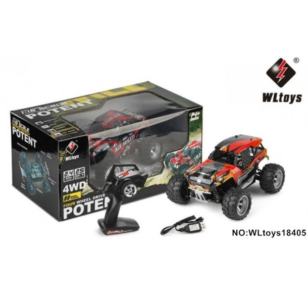 1:18 4WD Buggy, 25 km/h.