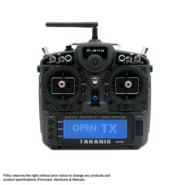 Taranis X9D Plus SE-2019 Carbon ACCESS-sender. Husk at bestille batteri.