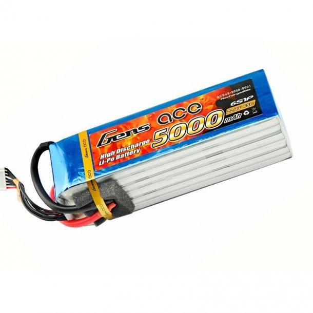 Gens ace 5000mAh 22.2V 45C Lipo batteri.