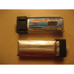 Diverse små LiPo batterier