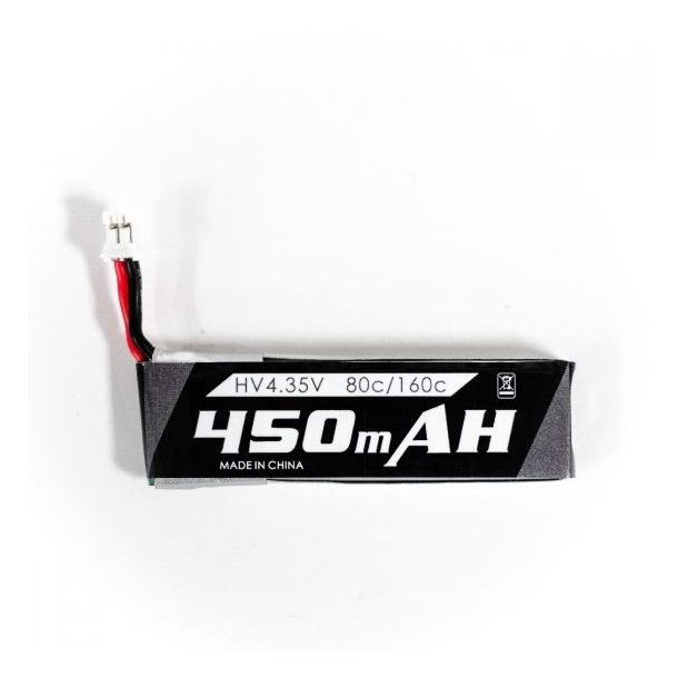 450mAh-1S HV LiPo batteri til Tiny Hawk FPV Quadcopter.