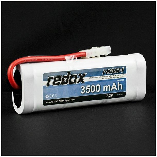 Redox 3500 mAh 7,2V - Ni-MH batteri med Tamiya stik.