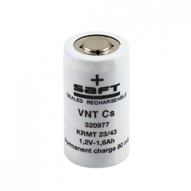 SAFT VNT Cs 1,2 Volt NiCd batteri.