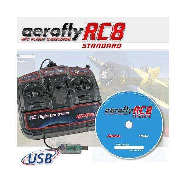 Aerofly RC8 STANDARD, simulator software med USB sender.